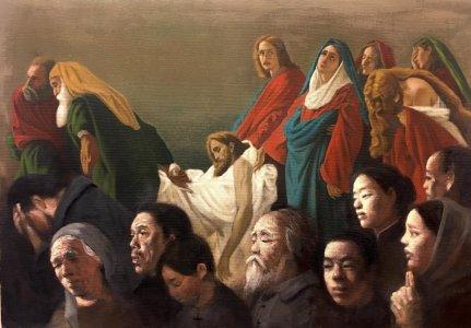 La Mise au tombea. The Entombment  (After Antonio Ciseri).  68x98cm