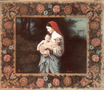 La vierge, l'enfant et L